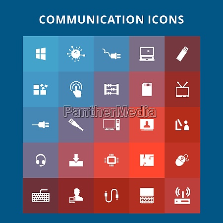 communication icons for web design and