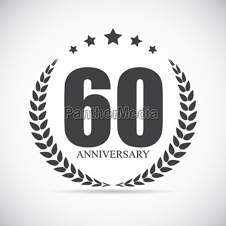 template logo 60 years anniversary vector