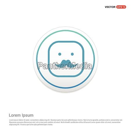 smiley icon face icon hexa white