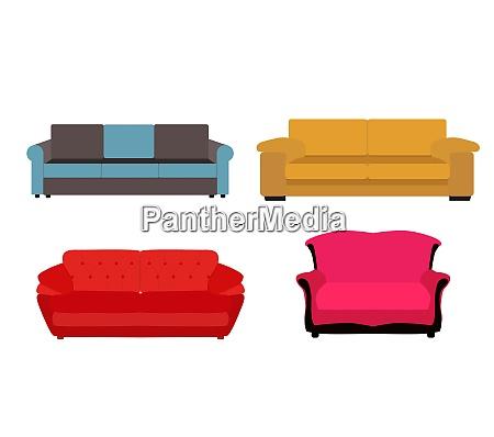 sofa icon set vector illustration eps10