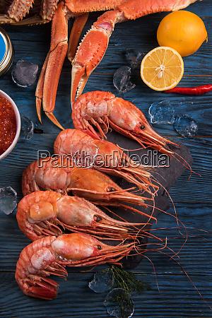 closeup of far eastern botan shrimp