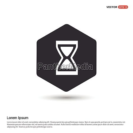 hourglass icon hexa white background icon
