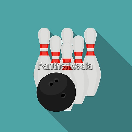 skittles and bowling ball flat style