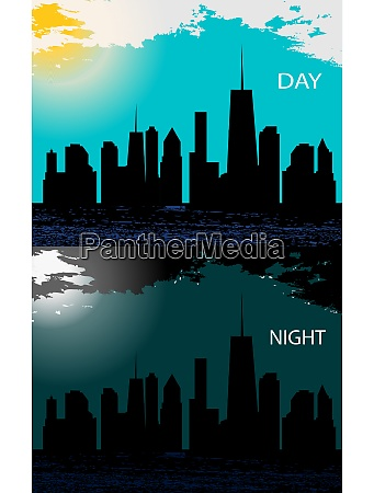 day and night in modern flat