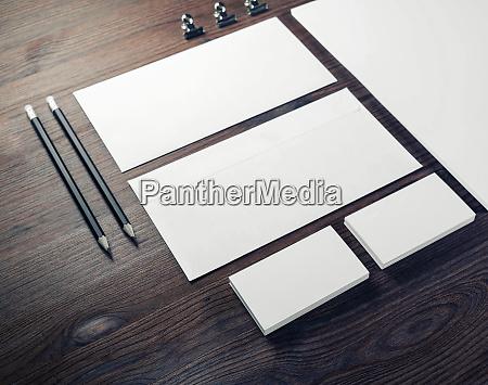 blank branding mock up
