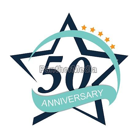template logo 50 anniversary vector illustration