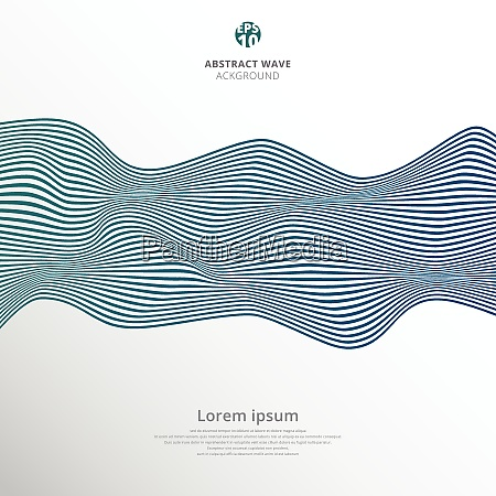 abstract blue lines wave pattern on
