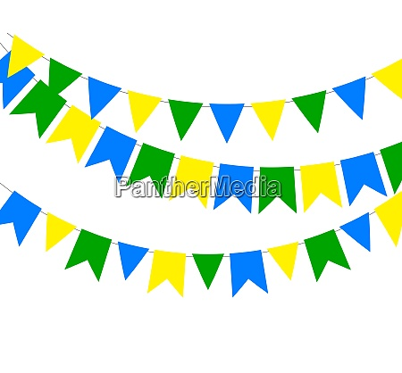 festive boxes of color flag of