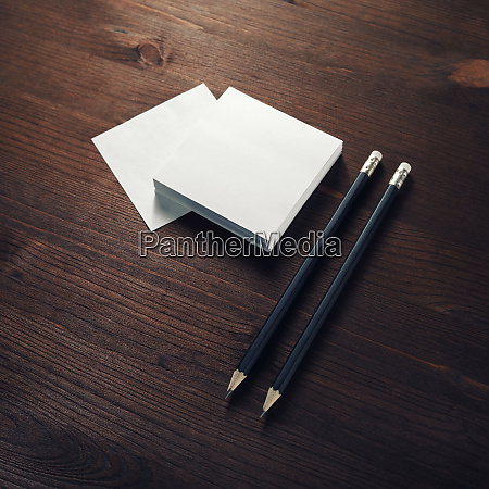 notes and pencils