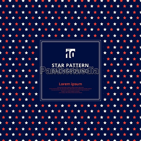 abstract red and white star pattern
