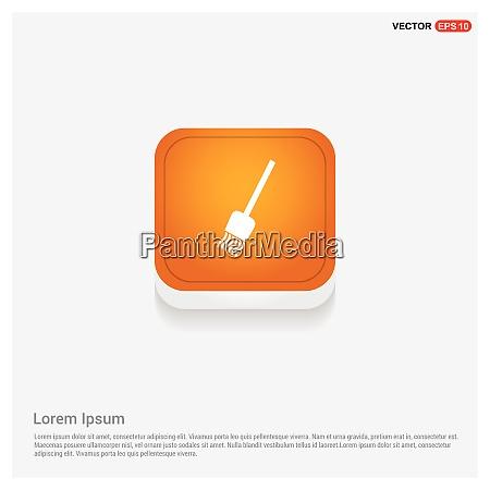 broom icon orange abstract web button