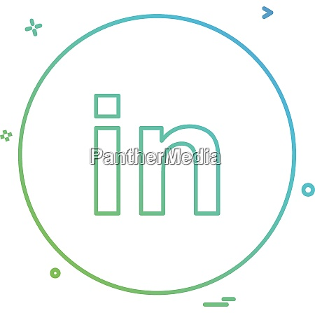 linked in icon design vector