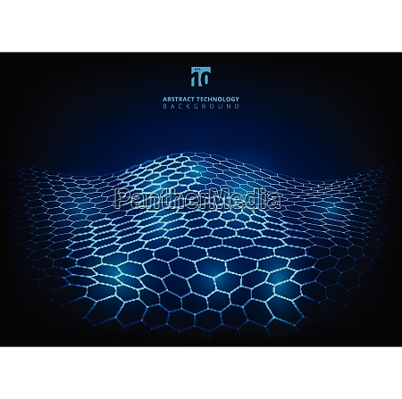 abstract technology hexagon pattern shining glow