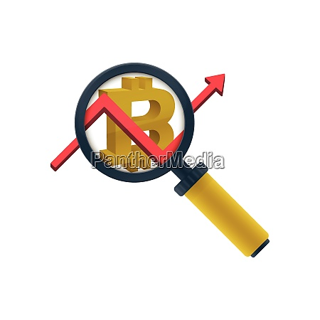 gold, colored, magnifying, glass, icon, , graph - 26266605