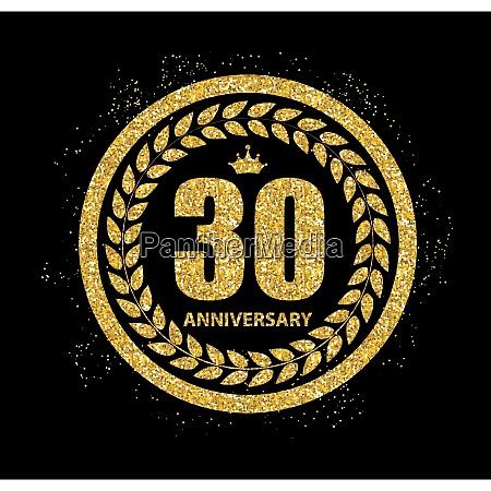 template 30 years anniversary vector illustration