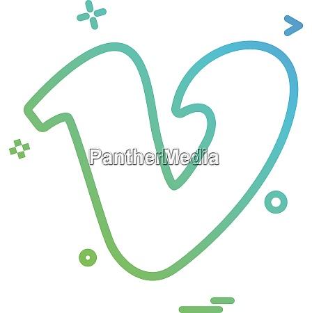 vimeo icon design vector