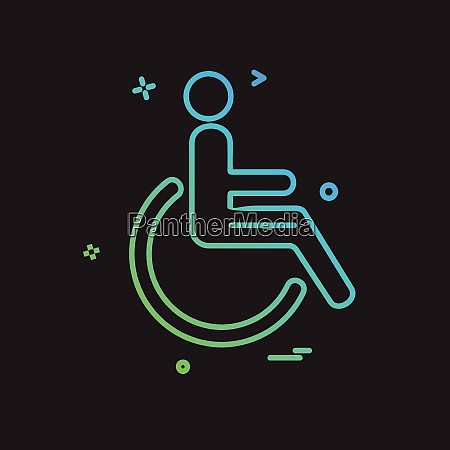 handicapped icon design vector