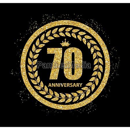 template 70 years anniversary vector illustration