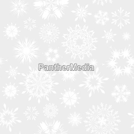 seamless vector snowflakes background in different