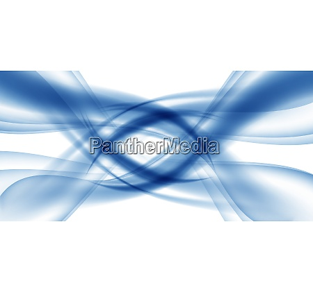 abstract blue wave set on transparent
