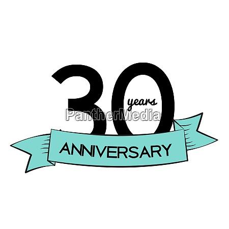 template logo 30 years anniversary vector