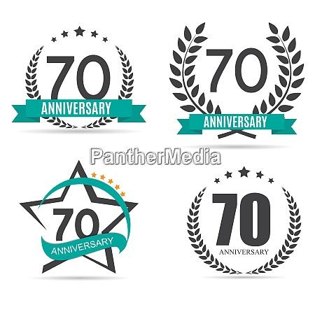 template logo 70 years anniversary vector
