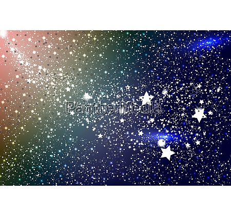 the mysterious starry space vector illustration