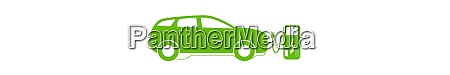 concept electric car on batteries and