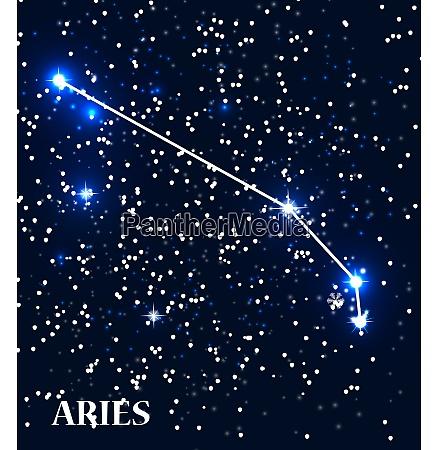 symbol aries zodiac sign vector illustration