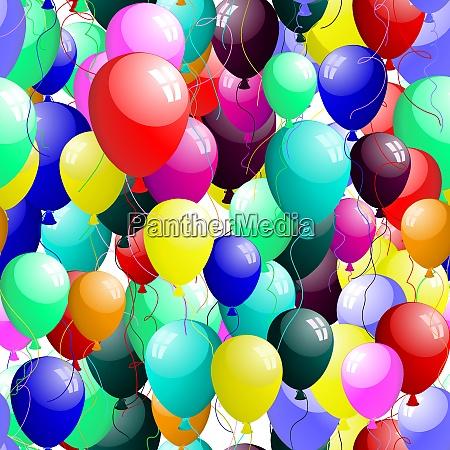 beautiful seamless balloons pattern vector illustration