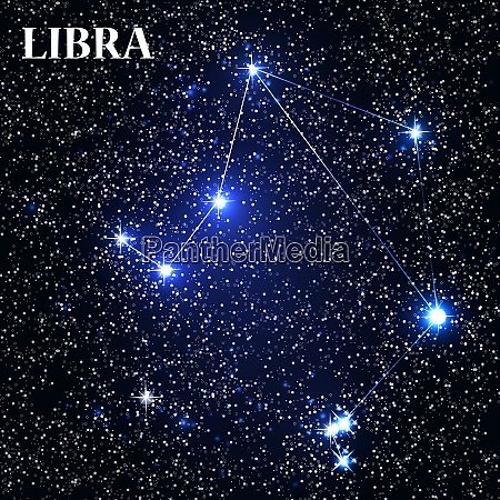 symbol libra zodiac sign vector illustration