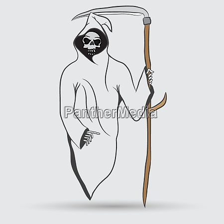 death with scytheman