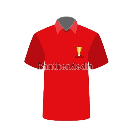 red t shirt with the image