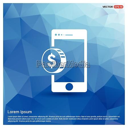 cellphone money icon free vector