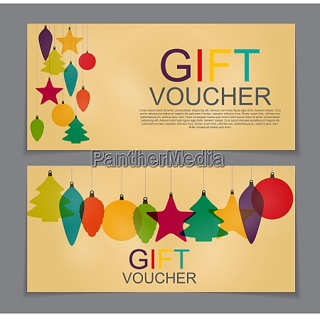 gift voucher template for christmas and