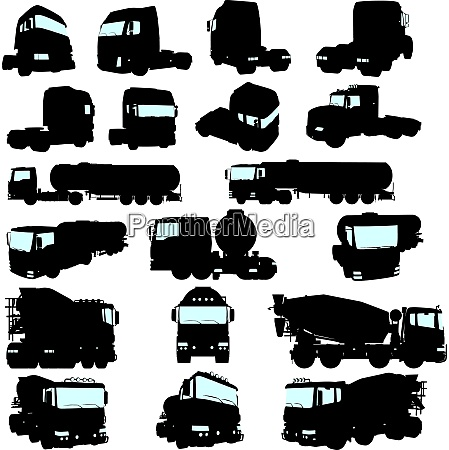 big collection of high detail trucks