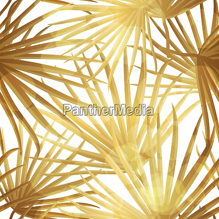 palm leaf vector seamless pattern background