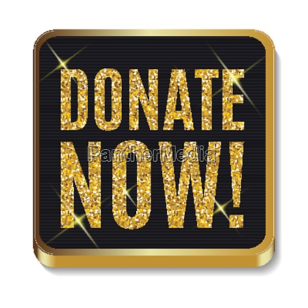 gold glitter shiny donate now icon