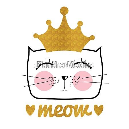 cute hand drawn cat vector illustration