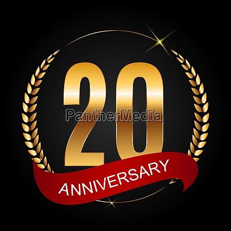 template logo 20 years anniversary vector