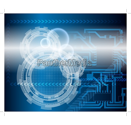 technological blue backgroundvector illustration with transparency