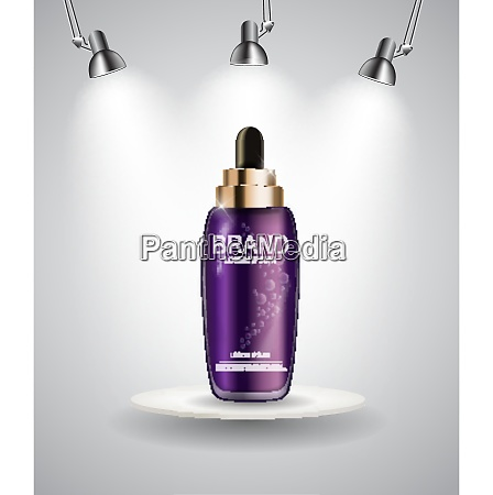 oil essence hydrating concentrate bottle template