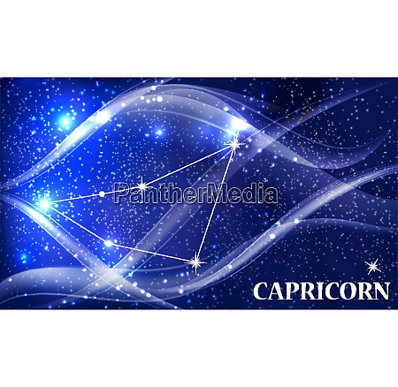 symbol capricorn zodiac sign vector illustration