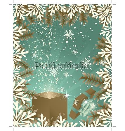 beautiful christmas new yearretro card