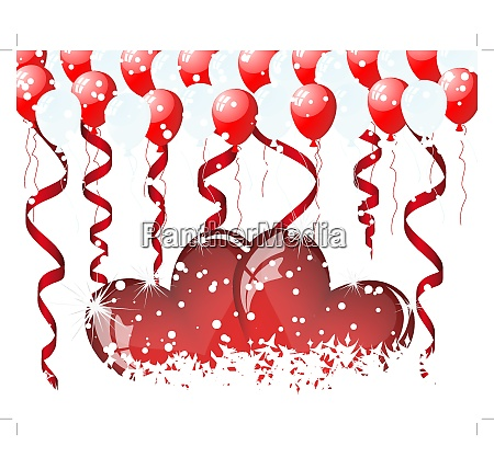 valentines day card with sign of