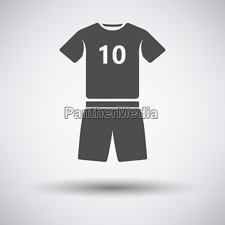 soccer uniform icon on gray background