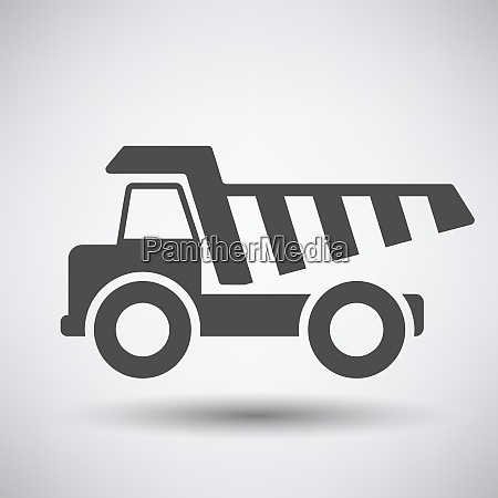 tipper car icon on gray