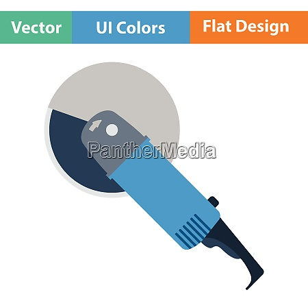 flat design icon of grinder in