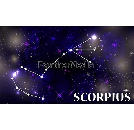 symbol scorpius zodiac sign vector illustration