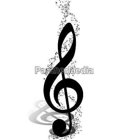 musical design elements from music staff